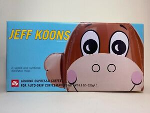 Jeff Koons ILLY Collection 2004 Mugs Coffee Original Packaging Complete Set