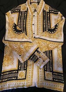 Gianni Versace Vintage Barocco Silk Shirt (Ultra Rare) Men's XL