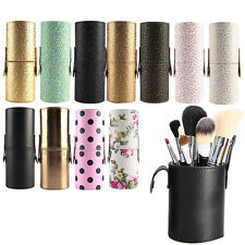 Travel Leather Storage Empty Holder Cosmetic Cup Case Box For Makeup Brush Pens