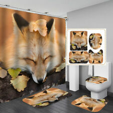 "DELUXE FOX THROW RUG~26/"" x 36/"" HAUTMAN BROTHERS NEW skid resist latex WASHABLE"
