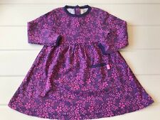 Jojo Maman Bebe Baby Girls Age 6-12 Months dress Floral Print  Jersey Cotton