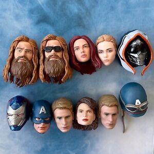 Marvel Legends Bro Thor Peggy Carter Black Widow Punisher Tony Stark head UPICK!