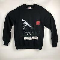 Michael Jackson Vintage 1988 BAD Concert Tour Sweat Shirt Crew Neck Sweater XL