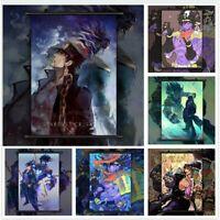 JoJo's Bizarre Adventure Kujo Jotaro Anime Poster Scroll Home Decoration