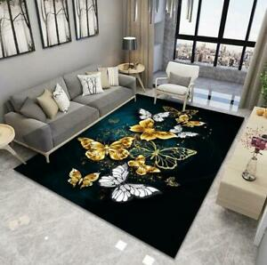 Golden Butterfly Large Carpet Living Room Bedroom Area Rugs WC Kitchen Doormat