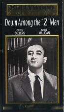 """DOWN AMONG THE """"Z"""" MEN~1952 RARE MINT VHS~PETER SELLERS CAROLE CARR"""
