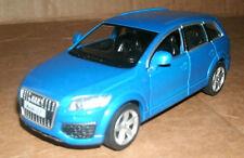 1/36 Scale Audi Q7 Diecast Model SUV Blue V12 TDI Diesel Wagon - RMZ City 555016