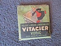 ancien sachet de poudre à polir-Vitacier Vonic-Alsacienne-quincaillerie-déco-pub