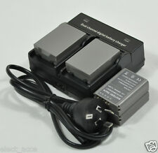 4x BLN-1 Battery + Dual Charger for OMD M-5 M-1 EM5 E-M5 E-M1 EM1 II E-P5 PEN F