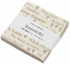 "Hometown Girl Moda Charm Pack 42 100% Cotton Fabric 5"" Precut Quilt Squares"