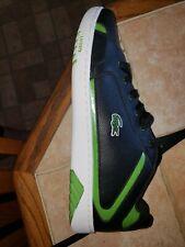 Lacoste Regan Croc Lace Shoes Men's 12 Black Green Leather Tennis