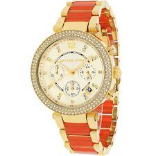 Michael Kors MK6139 Champagne Dial Gold Tone Multifunction Women's Watch 38mm