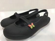 Crocs Girls' Slingback Black Shoes Youth Junior Size 1 - 3