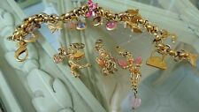 Kirks Folly Charm Bracelet incl 3 separate Cherub Charms with clips Boxed