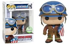 Funko Pop Marvel Captain America (#219) 2017 Spring Convention Exclusive ECCC