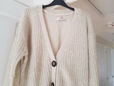 Atmosphere Beige Thick Knit Cardigan, Size 16, Good Condition