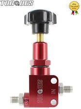 Los esfuerzos de torsión ajustable de aluminio Billet masculino M10x1.0 Válvula de sesgo de freno en rojo