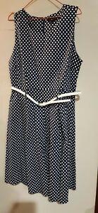 Cotton dress size 16 polka dots