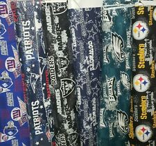NFL Cotton Fabric By The (1/2) Half Yard  - PICK TEAM -  18