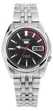 Seiko 5 SNK375 Men's Stainless Steel Black Speed Dial Day Date Automatic Watch