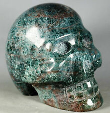 2.59lb NATURAL AGATE QUARTZ STATUE FIGURINE HUMAN SHAPED SKELETON HEAD CARVING