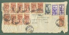 Storia postale Repubblica. FRONTESPIZIO di lettera aerea del 3. 10.1951 x Lima..