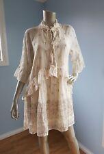 Stevie May Maya mini boho romantic cream floral dress 3/4 sleeves size S