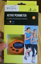 Vivi-Life Fitness Active Pedometer; Orange; NIB; SAKAR; Tracks Steps, Calories