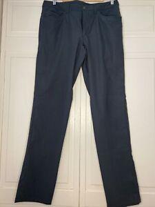 Lululemon ABC Classic Pants Warpstreme Mens Sz32 X 34 - Grey