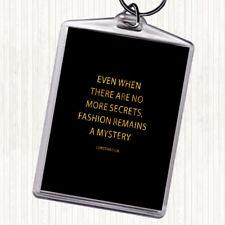 Or noir CHRISTIAN DIOR Fashion un mystère Citation Sac Tag Keychain Keyring
