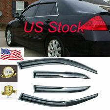 Window Visor Vent Rain Guard Deflector For Honda Accord 4 Door Sedan 2003-2007