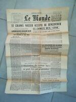 extrait Journal le Monde 29 août 1956 discours maréchal Juin Algérie