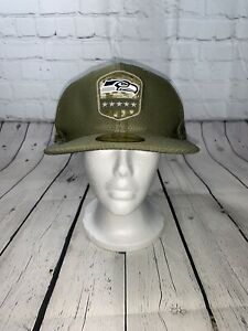 New Era 59Fifty NFL Seattle Seahawks Salute to Service Fitted Hat, Sz 7 1/2, NWT