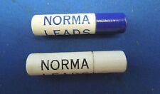 2 Tubes of Norma Quality Lead- Each Tube of 18 Medium Black, 12 Blue - Vintage