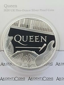 New** Royal Mint - Music Legends - 2020 Queen Silver Proof 5oz Coin - FIVE OUNCE