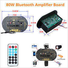 Universal High Power 80W Bluetooth Car Subwoofer Hi-Fi Amplifier Board TF USB