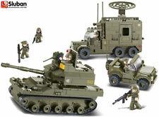 Sluban Elite Armoured Division Tank Radar Jeep Army Model Blocks Brick Set B0308