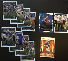 2017 DETROIT LIONS TEAM LOT: CALVIN JOHNSON RC + 2017 RCs GOLLADAY DAVIS + MORE