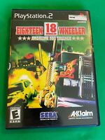 Eighteen 18 Wheeler Sony PlayStation 2 PS2 Game Complete With Manual TESTED.