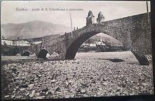 1910 - Bobbio - Ponte di S. Colombano e Panorama