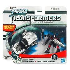 "TRANSFORMERS velocità STARS SIDESWIPE & Sentinel Prime 2 ""Action Figure NUOVI / SIGILLATI"