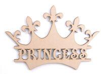 Wooden MDF Crown Craft Blank Shape Memory Box Monogram Princess Prince Crowns