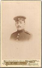 CDV photo Soldat - Dresden 1890er