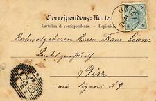 1899 cartolina col 5 heller - annullo di Ucici per Gorz - Austria
