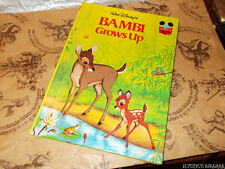 DISNEY'S WONDERFUL WORLD OF READING: BAMBI GROWS UP GROLIER BOOK HB