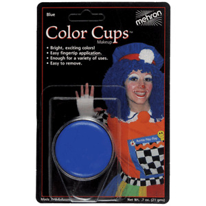 MEHRON BLUE COLOR CUP OIL BASED GREASE PAINT MAKEUP