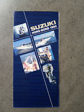SUZUKI HORS-BORD 1992 moteurs Outboard Motor Sales Brochure publicitaire 1992