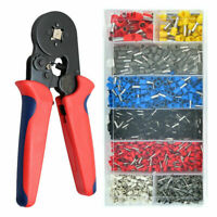 Ferrule Crimping Tool Kit Self-adjustable Ratchet Tool & 1200PC Wire Terminals