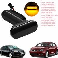 Vehicle LED Turn Signals Lamp Side Marker Light For Volkswagen SEAT Skoda Fordx2
