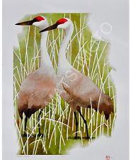 "Ikki Matsumoto ""Sandhill Cranes"" Giclee, Edition of 100, Image size: 18x25"